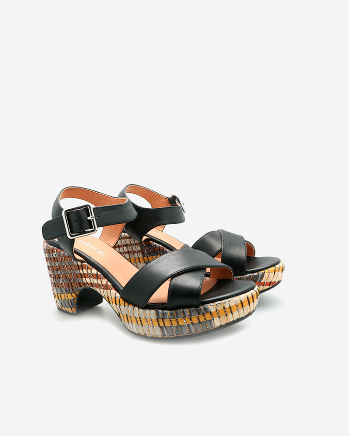 Sandale Chic Cuir Noir