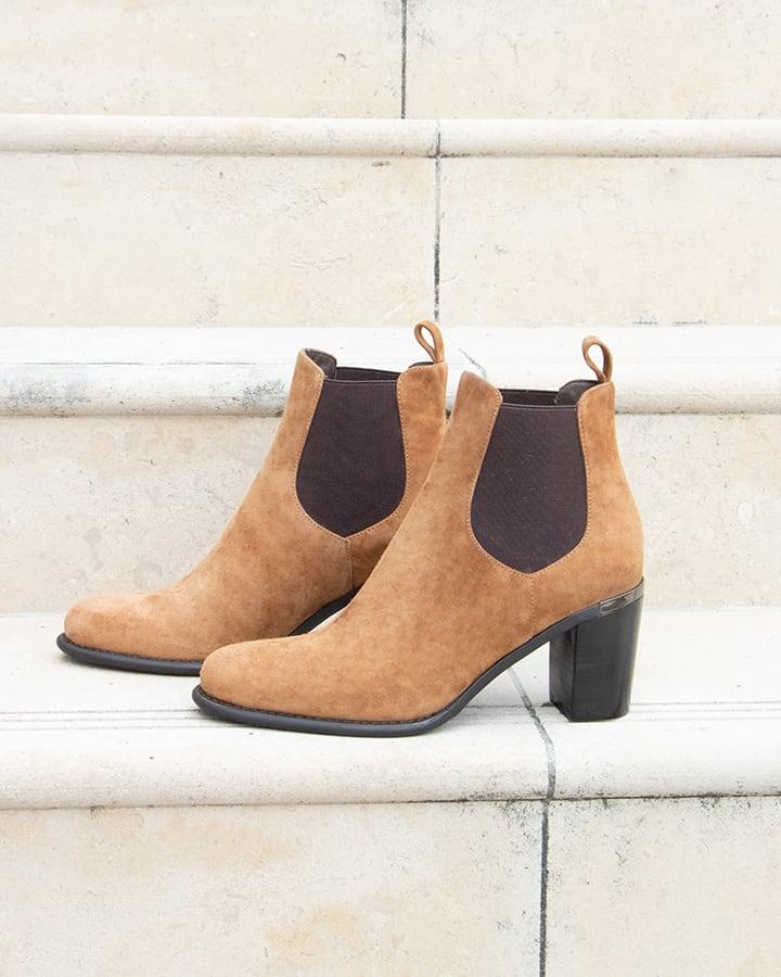 boots chelsea femme camel