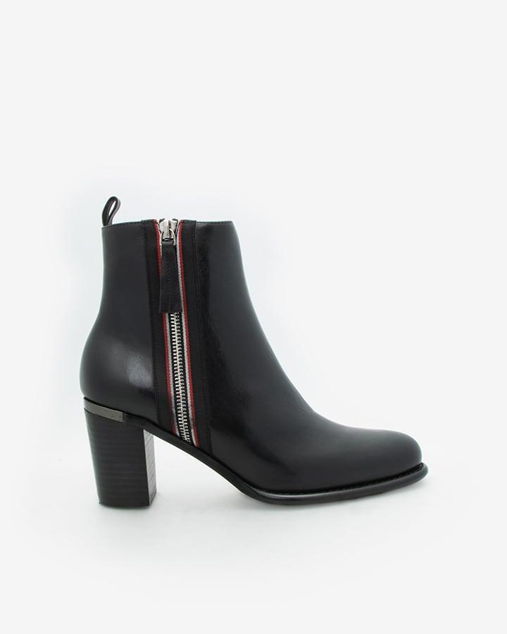 bottines noires femme talon Fric
