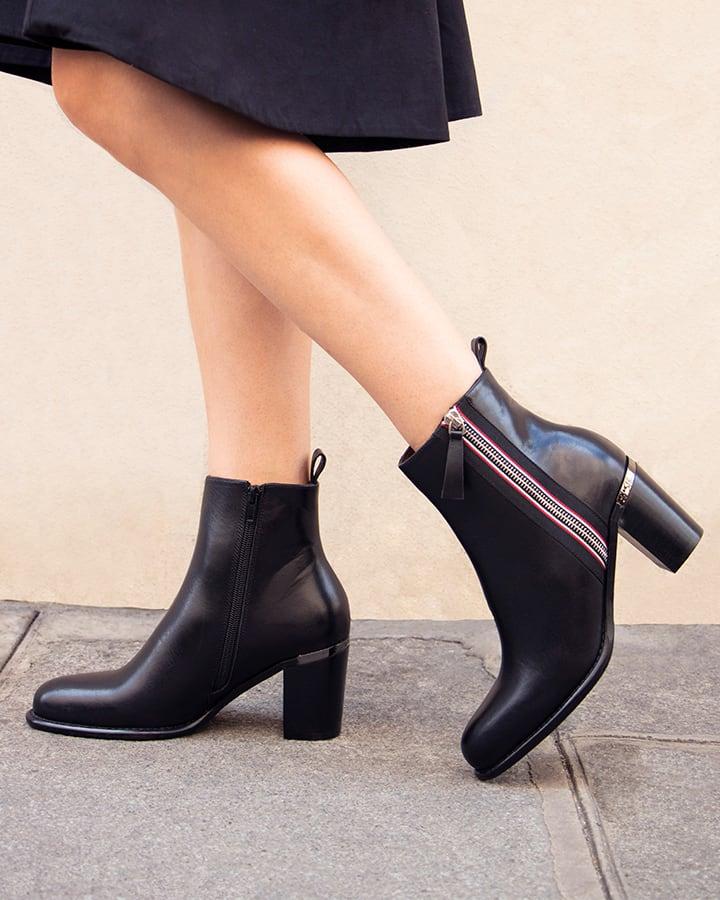 bottines noires femme talon