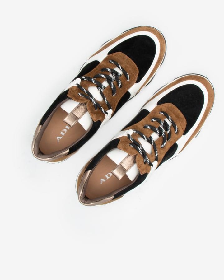sneaker cuir femme marron