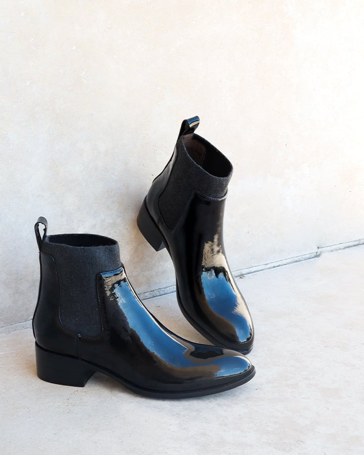 bottines vernies noires femme