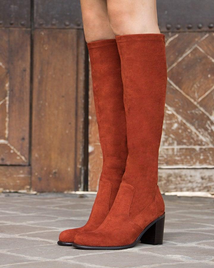 bottes stretch femme rouge