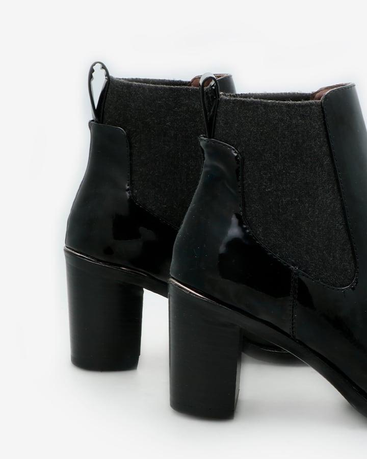 bottines vernies noires talon