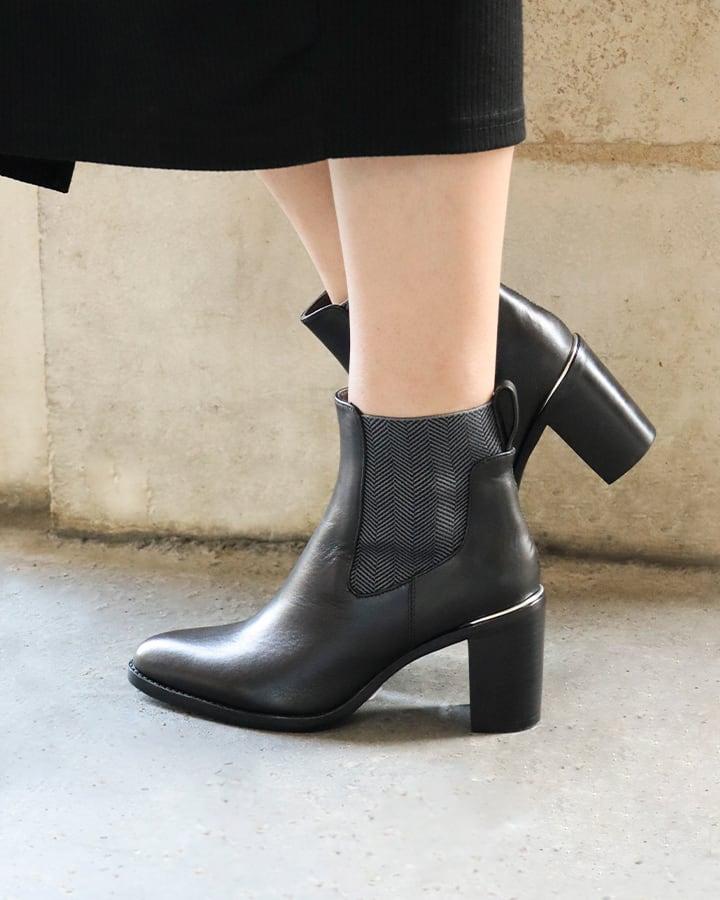 bottines noires talon femme
