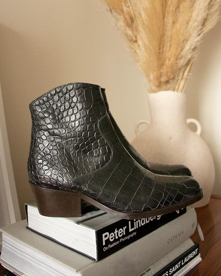 boots santiag femme croco