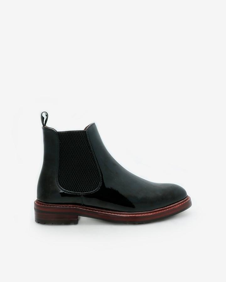 chelsea boots vernis noir