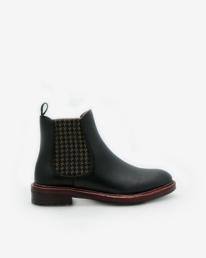 Boots noir femme cuir