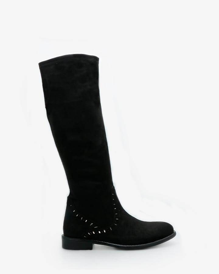 bottes extensibles femme noir