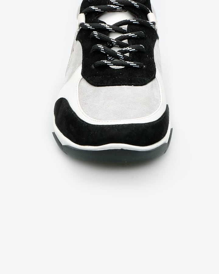 sneaker cuir femme noir