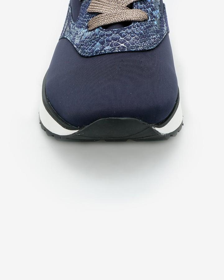 Basket bleu femme chic