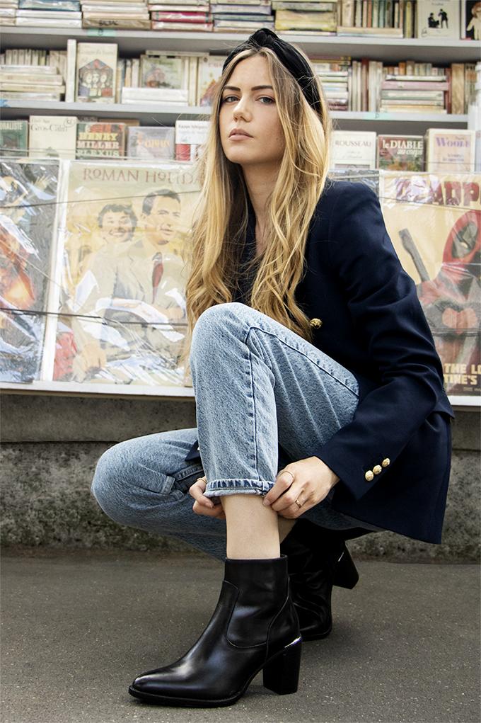 Boots Noir Femme Izel